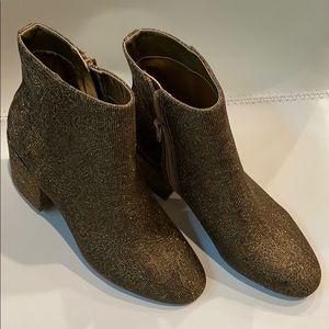 Booties Ankle gold fabric Carlos Santana